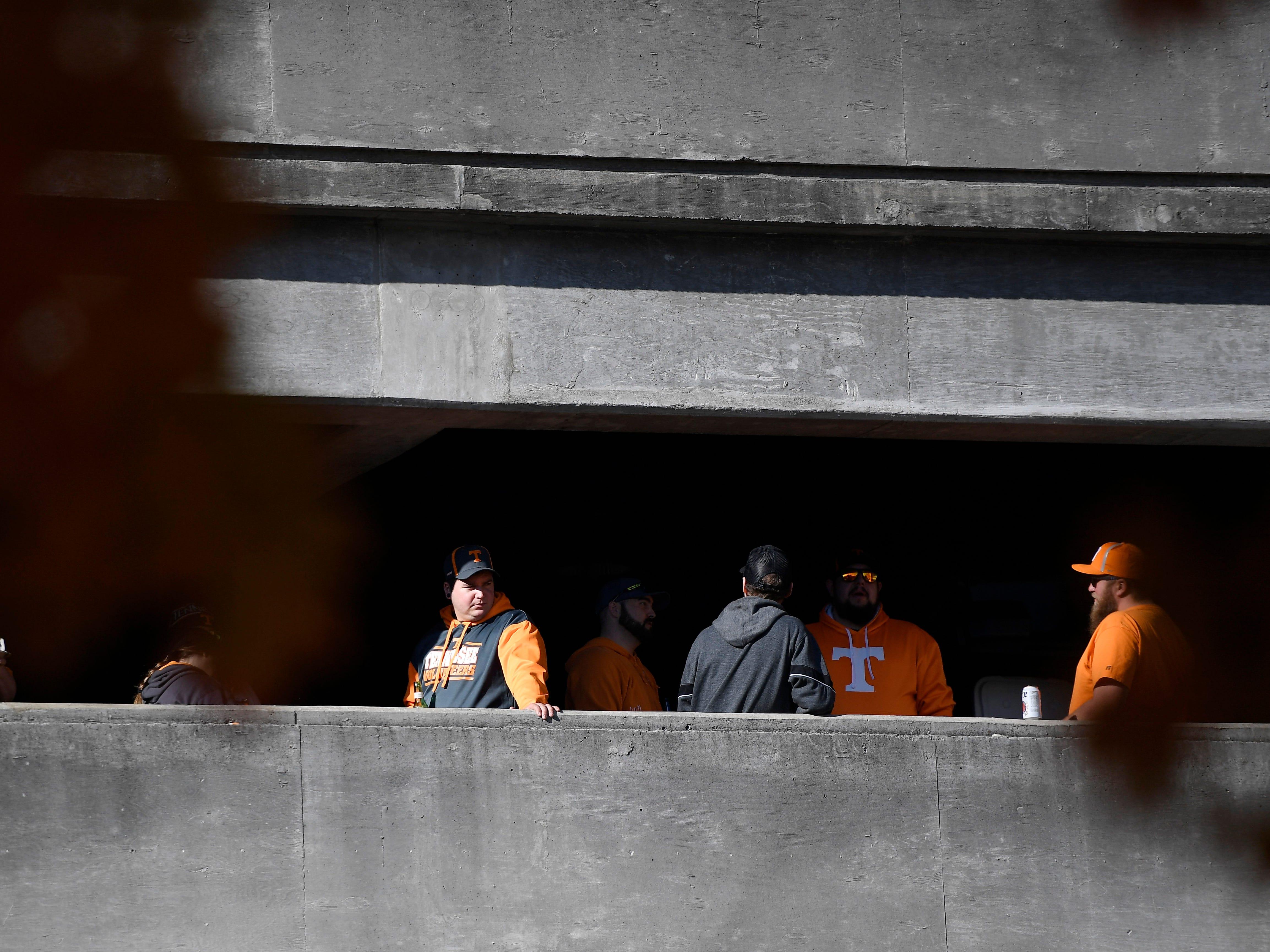 Vols fans watch from above at Vanderbilt Stadium Saturday, Nov. 24, 2018, in Nashville, Tenn.
