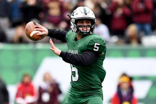 Ramapo quarterback A.J. Wingfield throws the ball in the first half. Ramapo faces Summit in the North Group 3 Bowl Game on Saturday, Nov. 24, 2018, in East Rutherford.