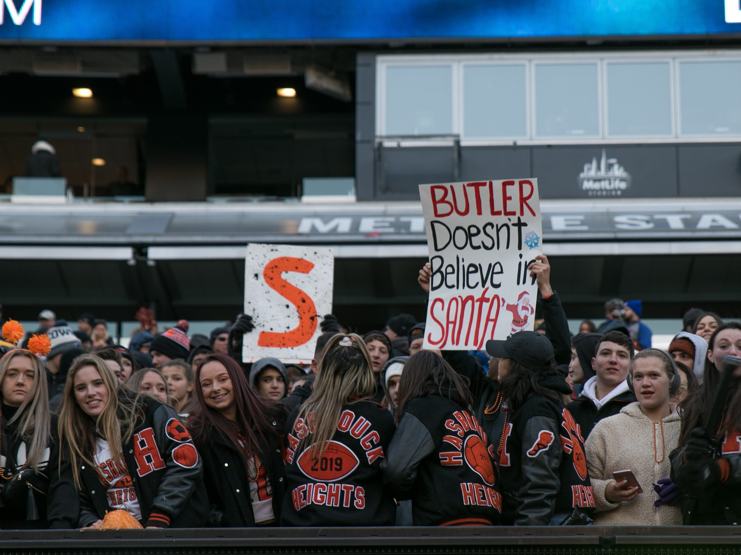 The scene at the Butler High School versus Hasbrouck Heights Group 1 Bowl Game at MetLife Stadium. The Aviators beat Butler 41-7. 11/23/2018