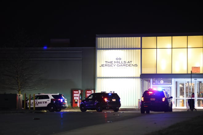 Police at the scene where a person was shot during Black Friday sales at Jersey Gardens Mall or The Mills at Jersey Gardens in Elizabeth, NJ around 8 p.m. on November 23, 2018.