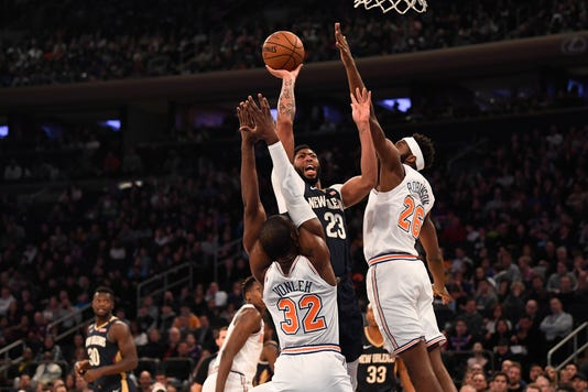 Nba New Orleans Pelicans At New York Knicks