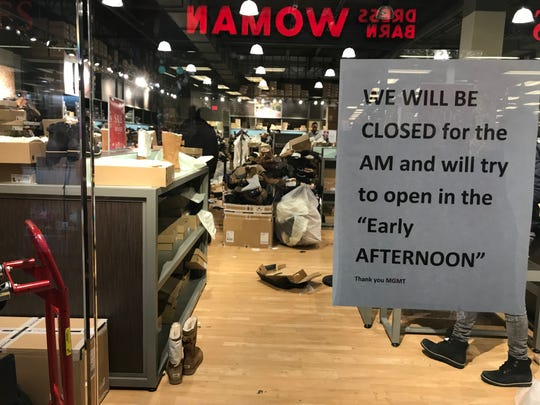 6188b0cf7 Many stores were delayed from opening Saturday morning after a man was shot  on Black Friday