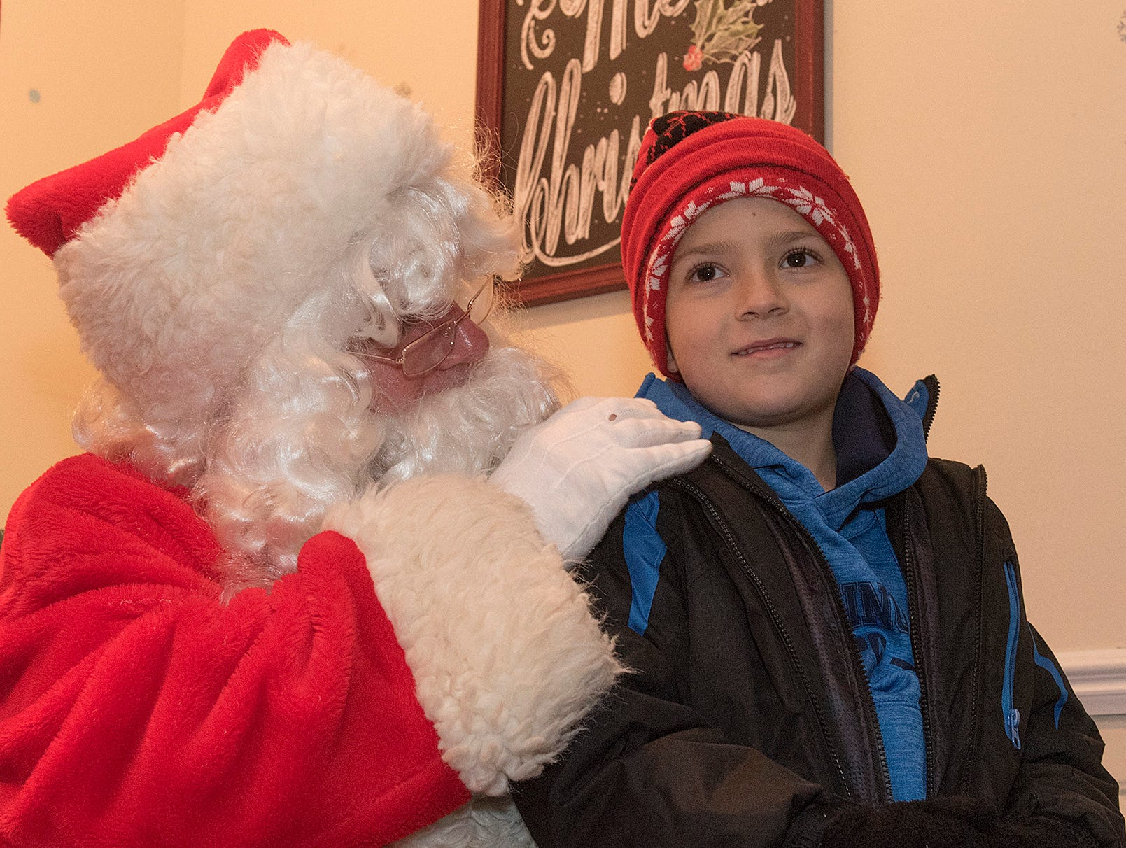 Six year old Robert Marra wonders what he wants for Christmas from Santa Claus.