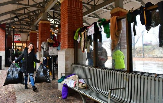Coats of Friendship distributes coats in York City, Saturday, Nov. 24, 2018. Dawn J. Sagert photo