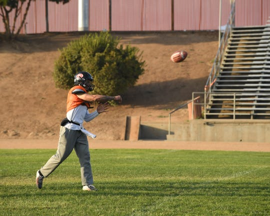 Senior quarterback Raul Morales has had an efficient 2018 season, completing 70 percent of his passes for 17 touchdowns. He and fellow senior Payton Flores have led the Spartans to have one of the most potent offenses in Monterey County.