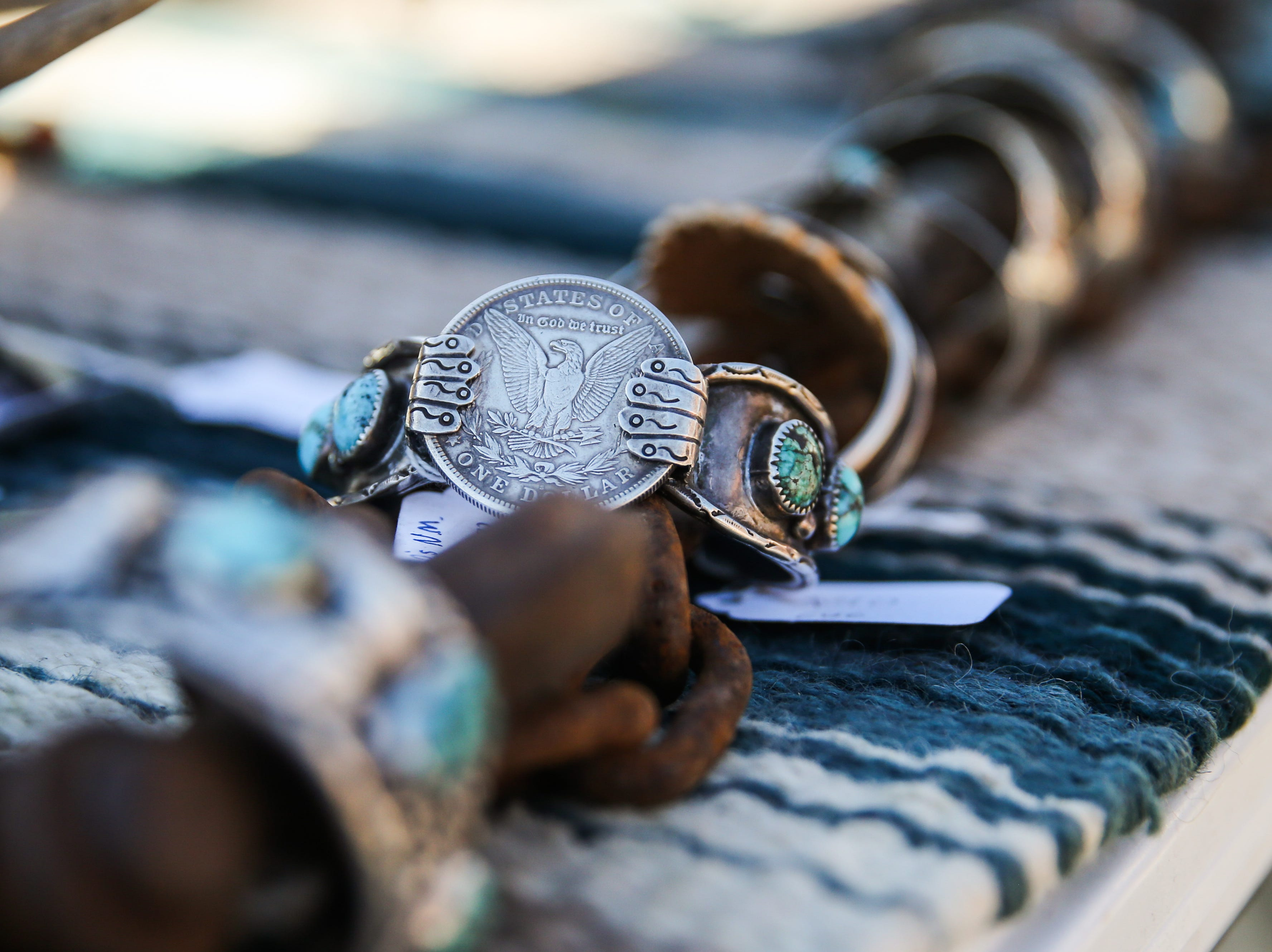 Bracelets by Clearwater Creek Equine and Collectables on display during the Thanksgiving Open House Friday, Nov. 23, 2018, at the Chicken Farm Art Center.