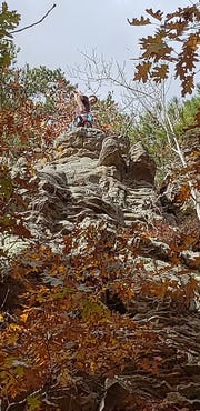 Coleman Severson, 17, shortly before he fell 30 feet while rock climbing at Horseshoe Canyon Ranch in Arkansas.