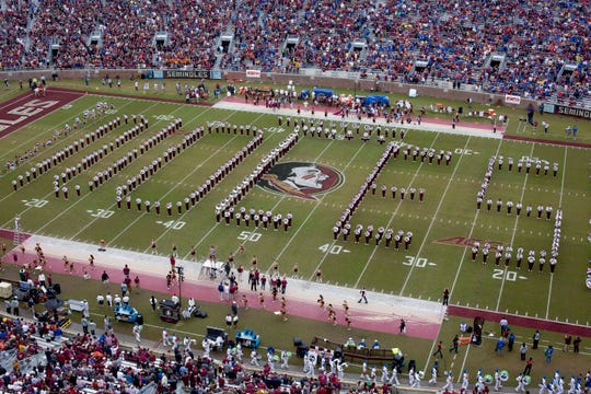 Nov 24, 2018; Tallahassee, FL, USA; The Florida State Seminoles Marching Chiefs perform before the Seminoles play the Florida Gators at Doak Campbell Stadium. Mandatory Credit: Glenn Beil-USA TODAY Sports