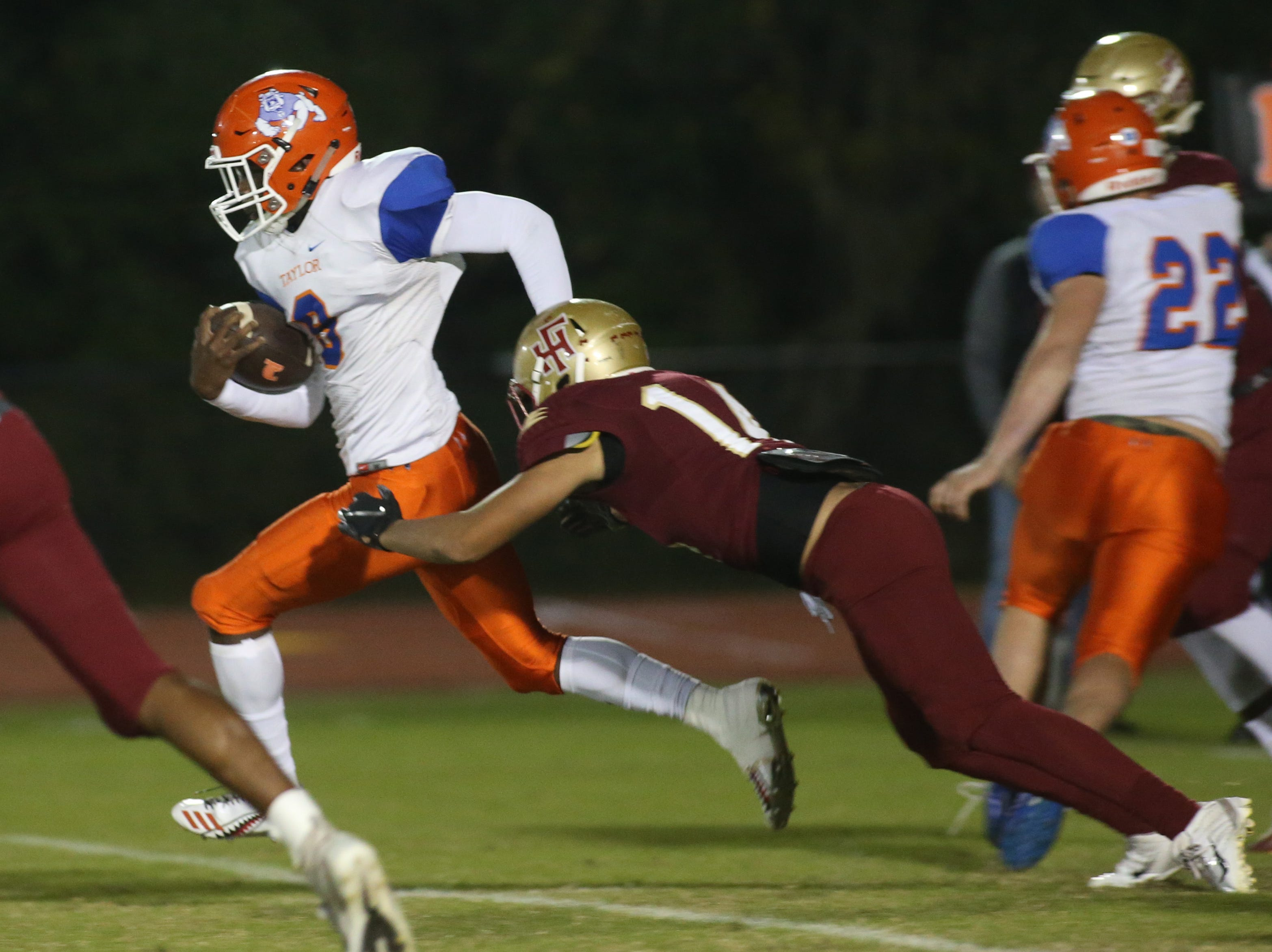 The Taylor County Bulldogs play the Florida High Seminoles in a Region 1-3A final on Friday, Nov. 23, 2018.
