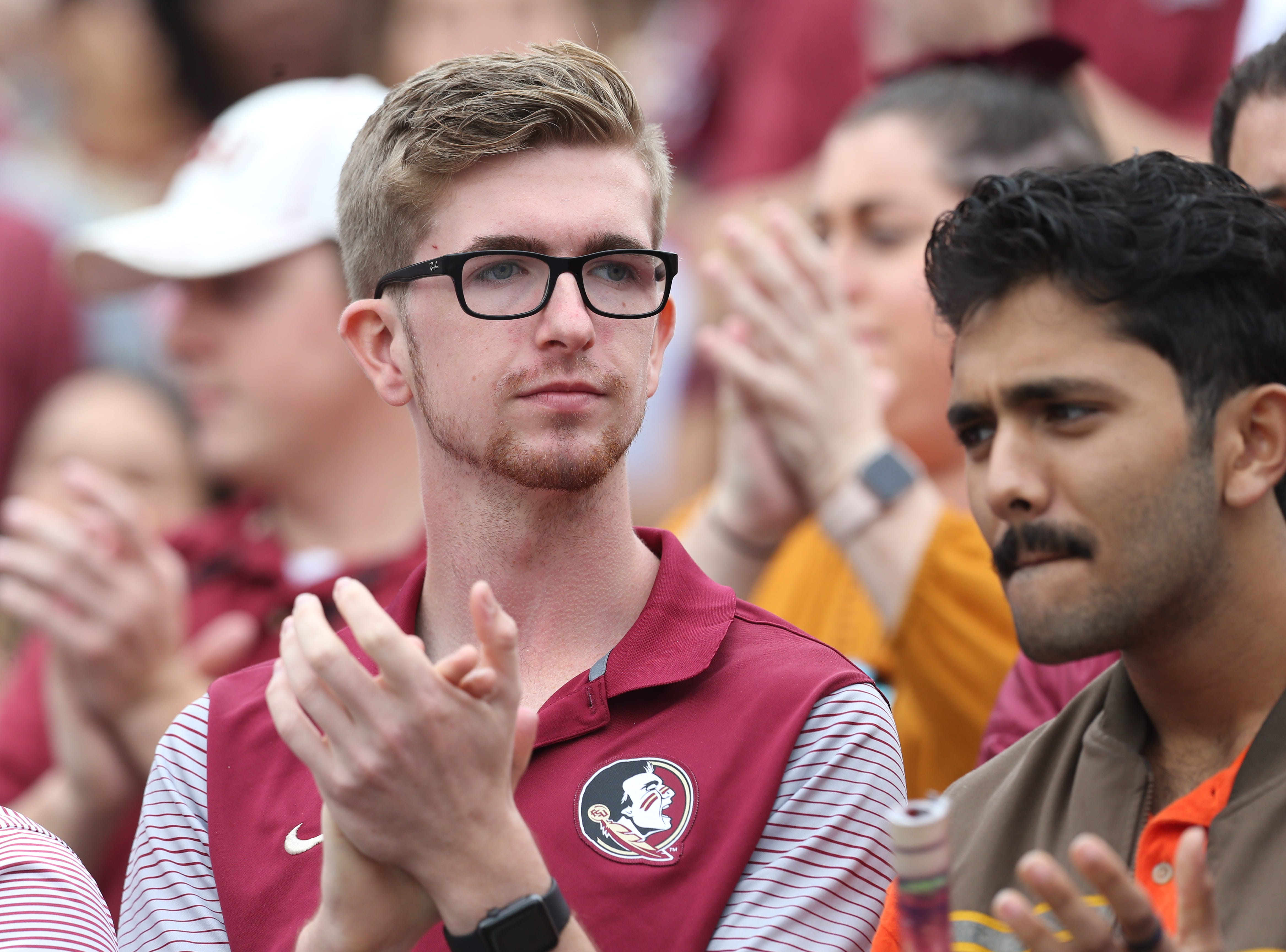 Fans cheer on their team as the Florida State Seminoles take on their rival the Florida Gators in college football at Doak S. Campbell Stadium, Saturday, Nov. 24, 2018.