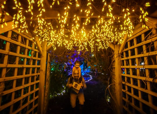Heathcote's Garden of Lights ends this weekend at Heathcote Botanical Gardens in Fort Pierce.