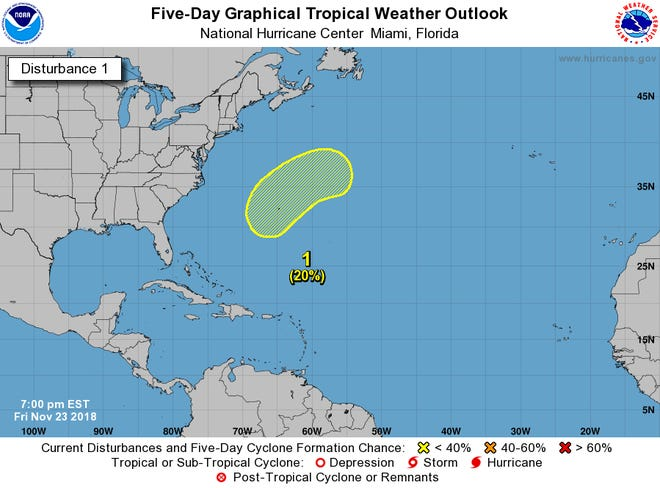 A low pressure system is expected to develop off the Florida or Georgia coast this weekend.