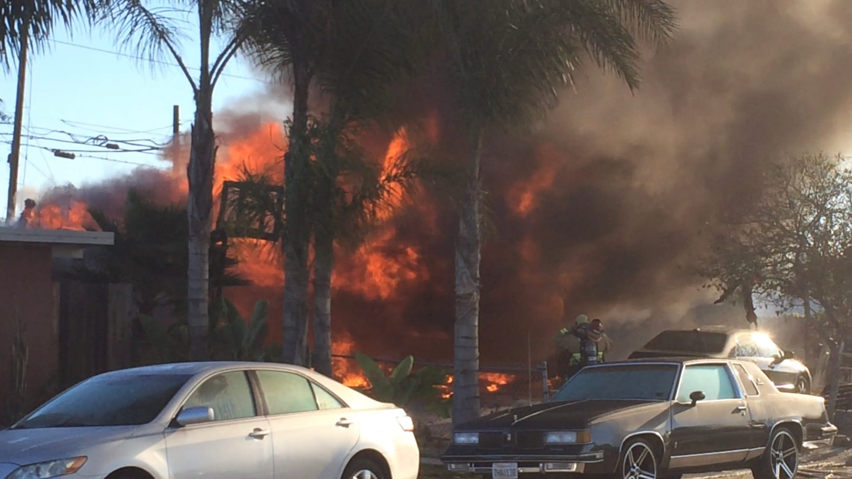 explosion fire injuries reported at home in el rio. Black Bedroom Furniture Sets. Home Design Ideas