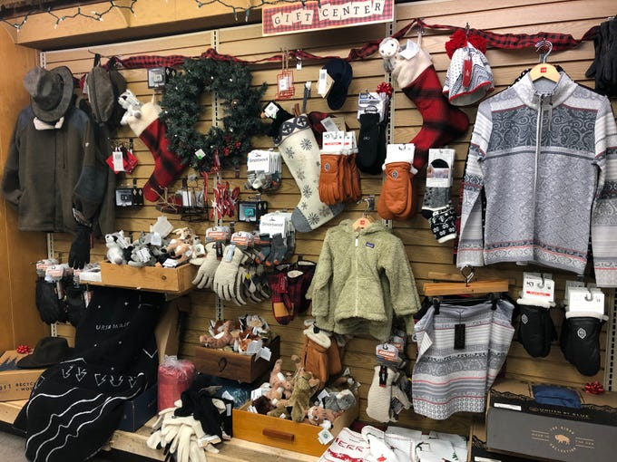 A display of Christmas gift ideas at Shepherd & Schaller in downtown Wausau on Small Business Saturday.
