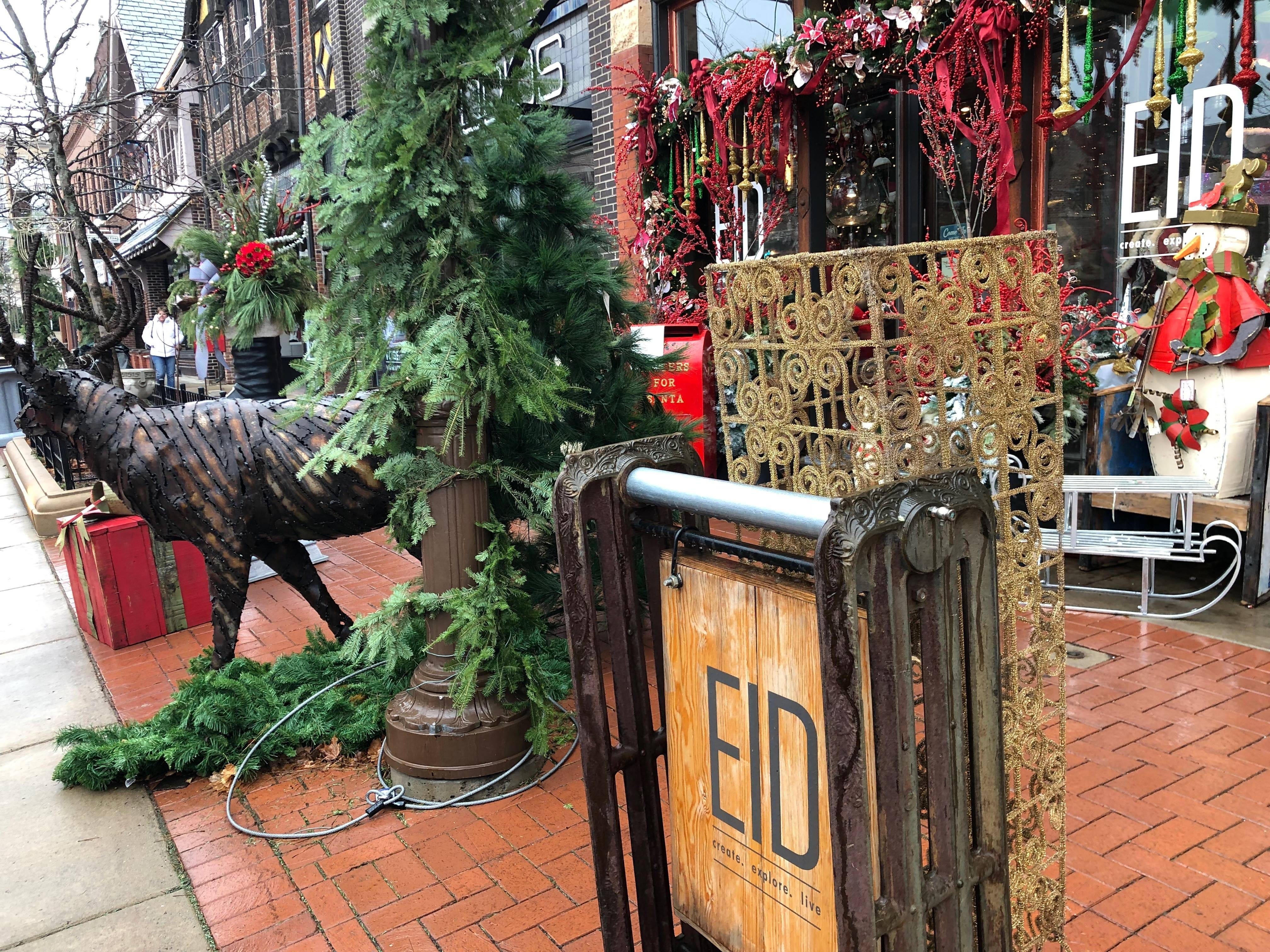 Decorations at Evolutions in Design light up downtown Wausau on Small Business Saturday.