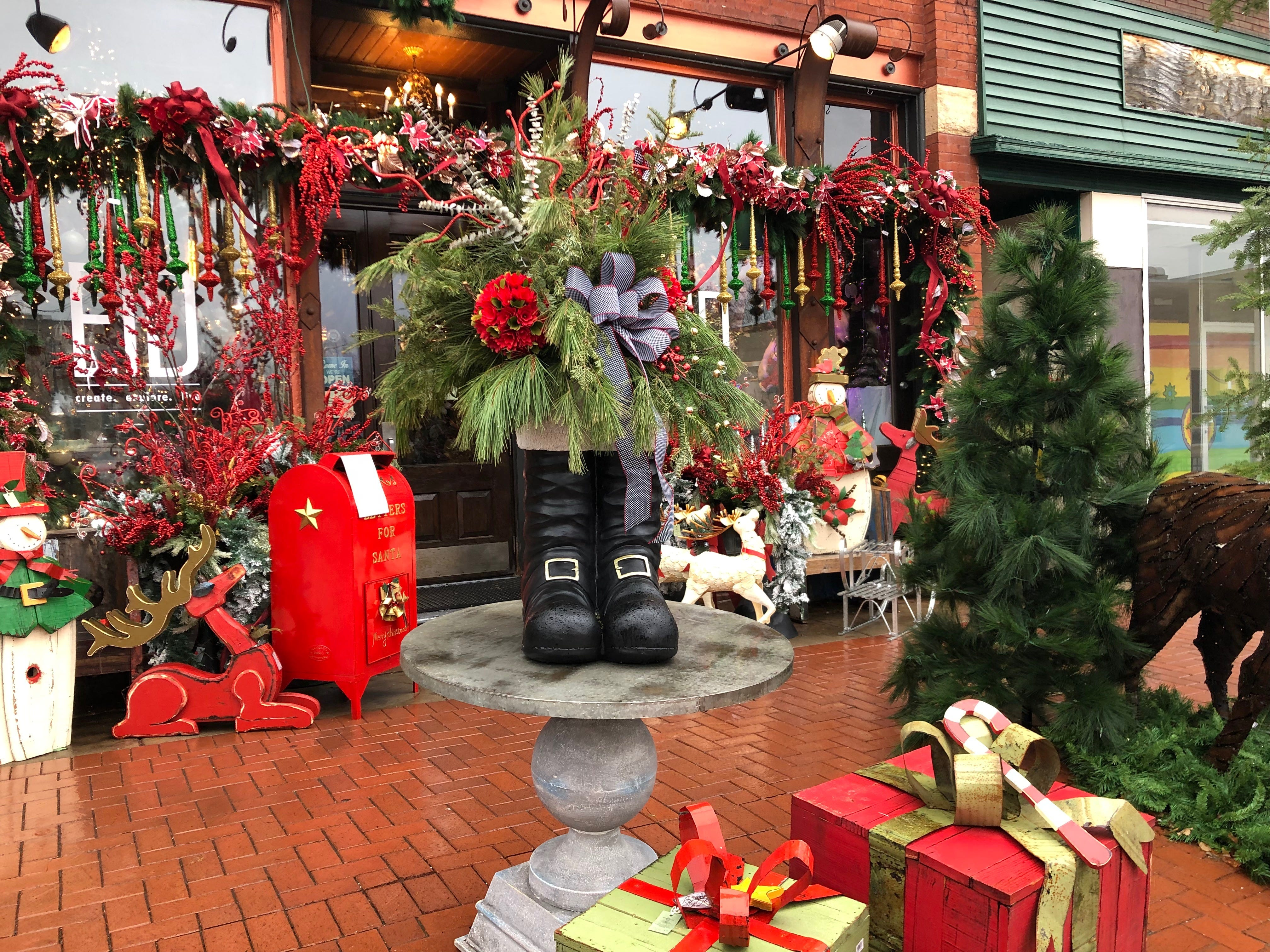 Decorations at Evolutions in Design on Small Business Saturday.