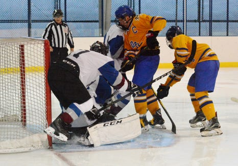 T.J. McKee is one of six senior forwards on the Mahopac roster.