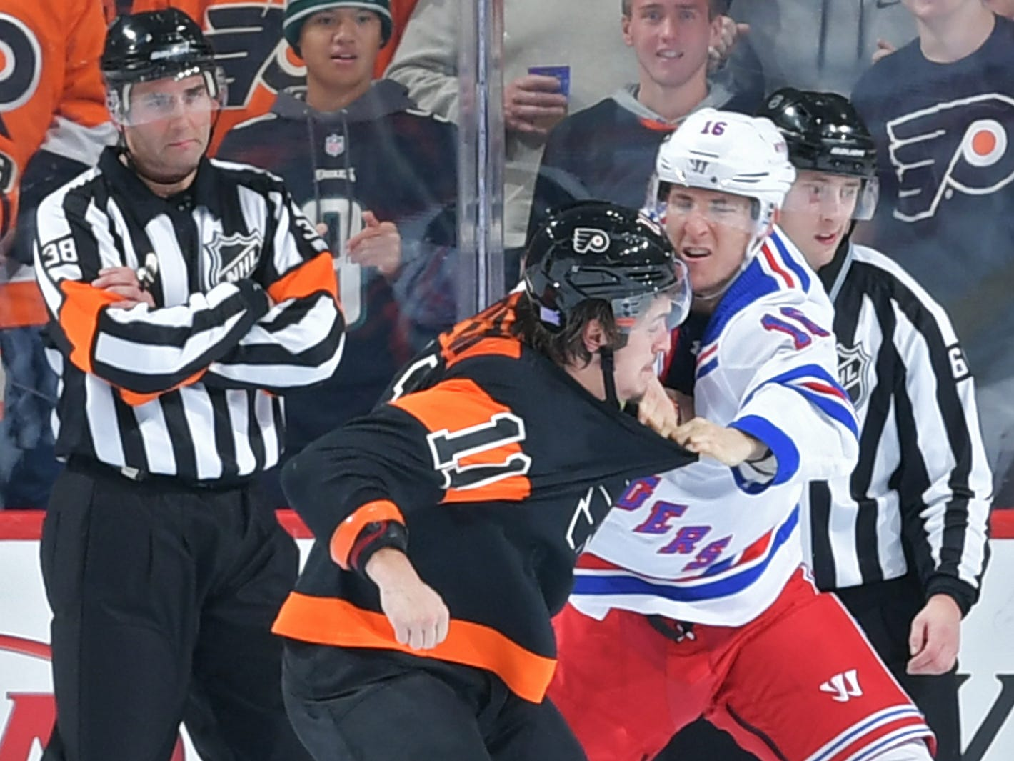 Nov. 23: Philadelphia Flyers' Travis Konecny vs. New York Rangers' Ryan Strome
