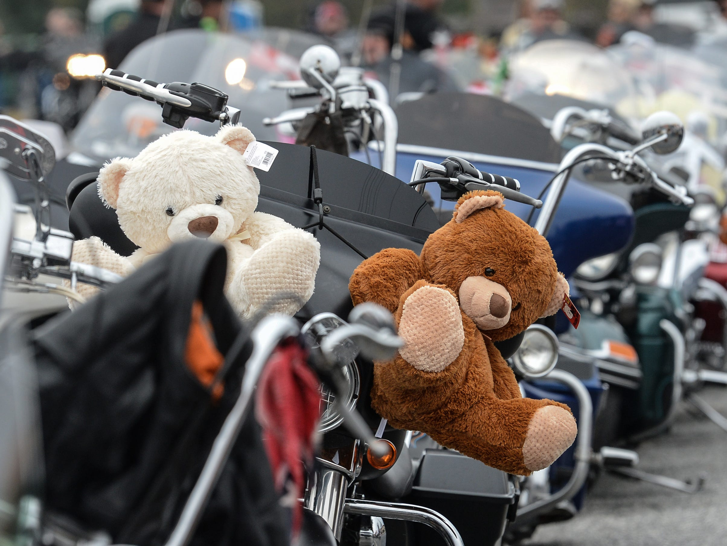 The Anderson Toy Parade, in memory of Charles and Diane Bolt, the 38th Jack Hurley Toy Parade in Anderson on Sunday, November 25, 2018. The parade started at White Jones Hardware parking lot in the Watson Village, followed along Main Street to the Civic Center of Anderson where toys were donated to Anderson Cares and Shares.