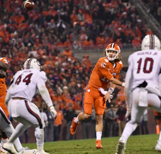 With 22 touchdown passes, Trevor Lawrence continues to add his program record for a freshman.