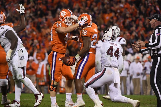 Clemson plays South Carolina in the Palmetto Bowl, 2018.