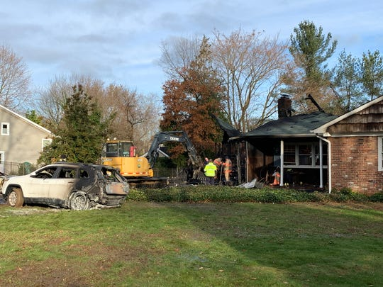 A morning house fire on Sargent Road in Freehold Township.