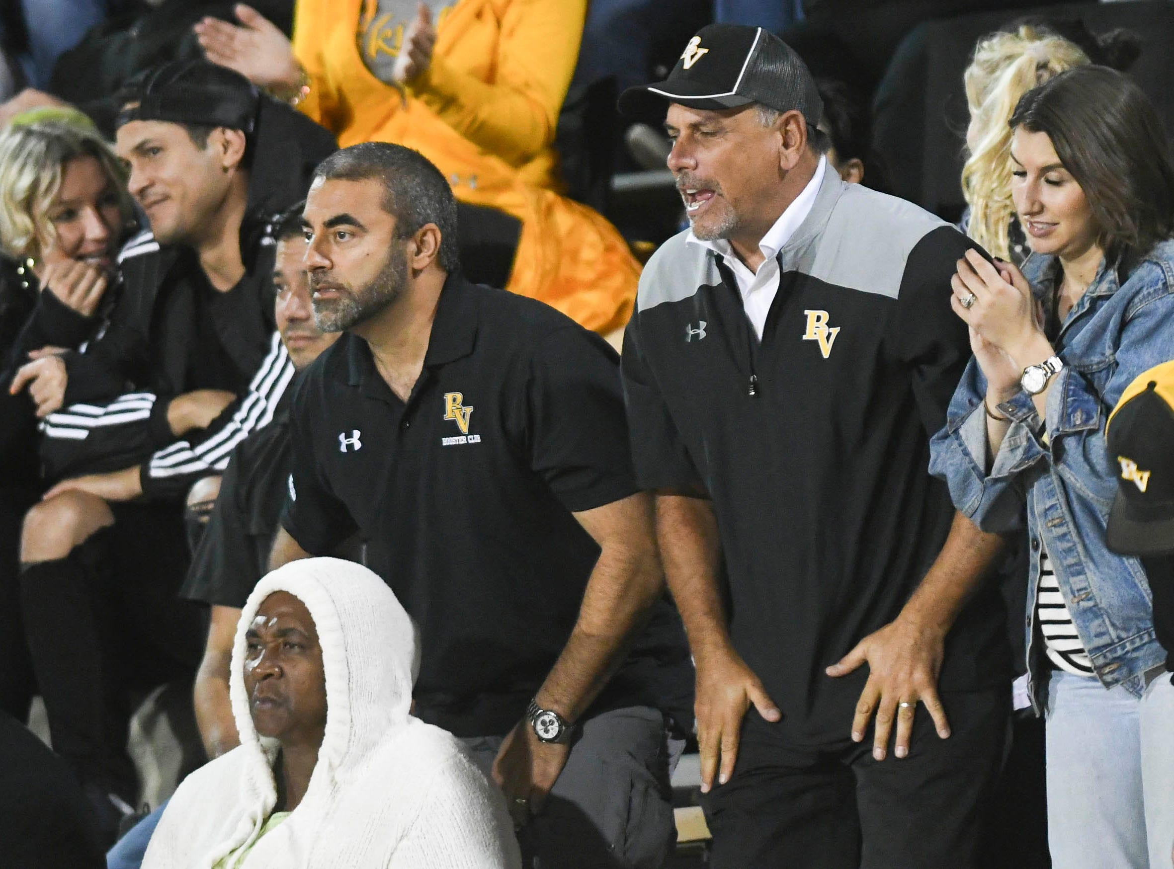 Bishop Verot fans cheer the Vikings during Friday's game against Cocoa.