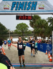 David Kilgore posted his fourth win at the Space Coast Marathon last year.