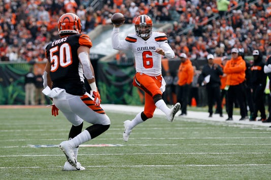 Cleveland Browns At Cincinnati Bengals