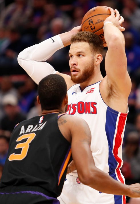 Nba Phoenix Suns At Detroit Pistons