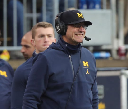 It was a massive letdown for Michigan football in its big loss to Ohio State. The Wolverines are knocked out of the playoff and have to wait and see what bowl they end up at. How far did Michigan fall in the Free Press' top 25 college football poll? Receiving votes this week were Texas A&m and Cincinnati. Dropping out were Pitt and Houston.