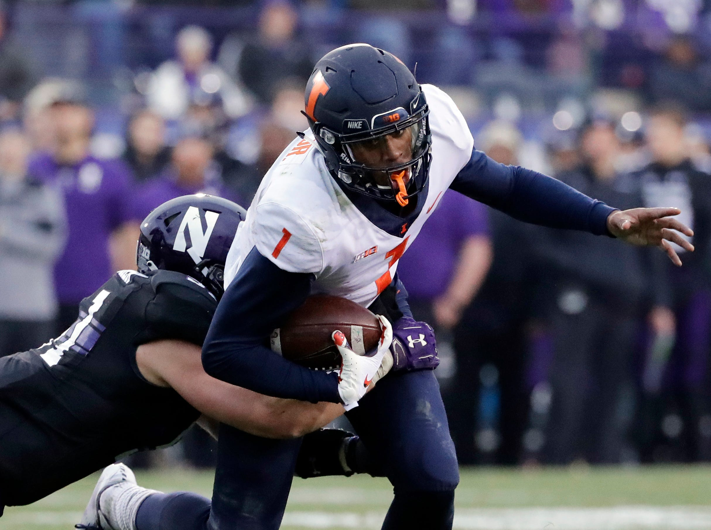 13. Illinois (4-8, 2-7) – The Fighting Illini showed some toughness in nearly coming back against Northwestern in the finale. However, like the bulk of coach Lovie Smith's three seasons, they simply didn't have enough firepower. Smith has just nine wins in three seasons, but was surprisingly given a two-year extension, through 2023, just one day after the season ended. Last week: 13.