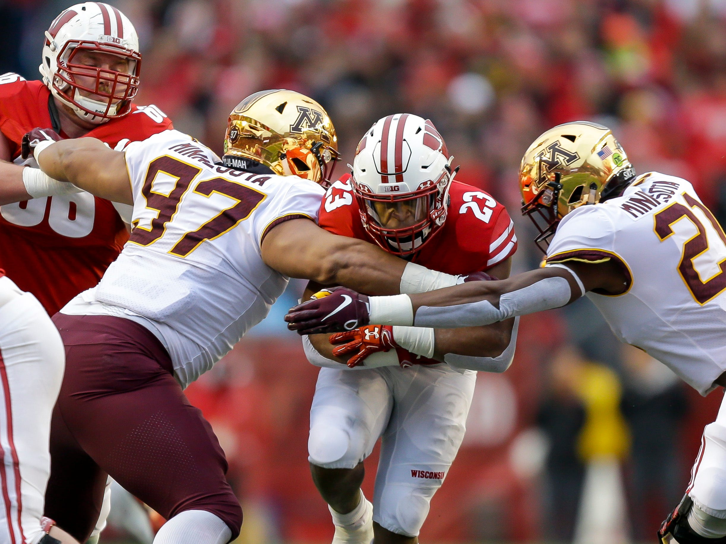 7. Wisconsin (7-5, 5-4) – The Badgers have been plagued by inconsistency all season but few expected them to close things out by getting trounced at home by Minnesota. It was never a game as the Badgers lost four of their final seven games and now wait to see where they'll play a bowl game after entering the season as the favorite to win the West. Last week: 5.