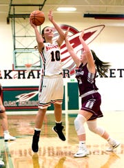 Oak Harbor's Logan Harris had 14 points and 10 rebounds against Rossford.