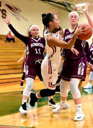 Oak Harbor's Sophia Eli scored 10 points against Rossford.