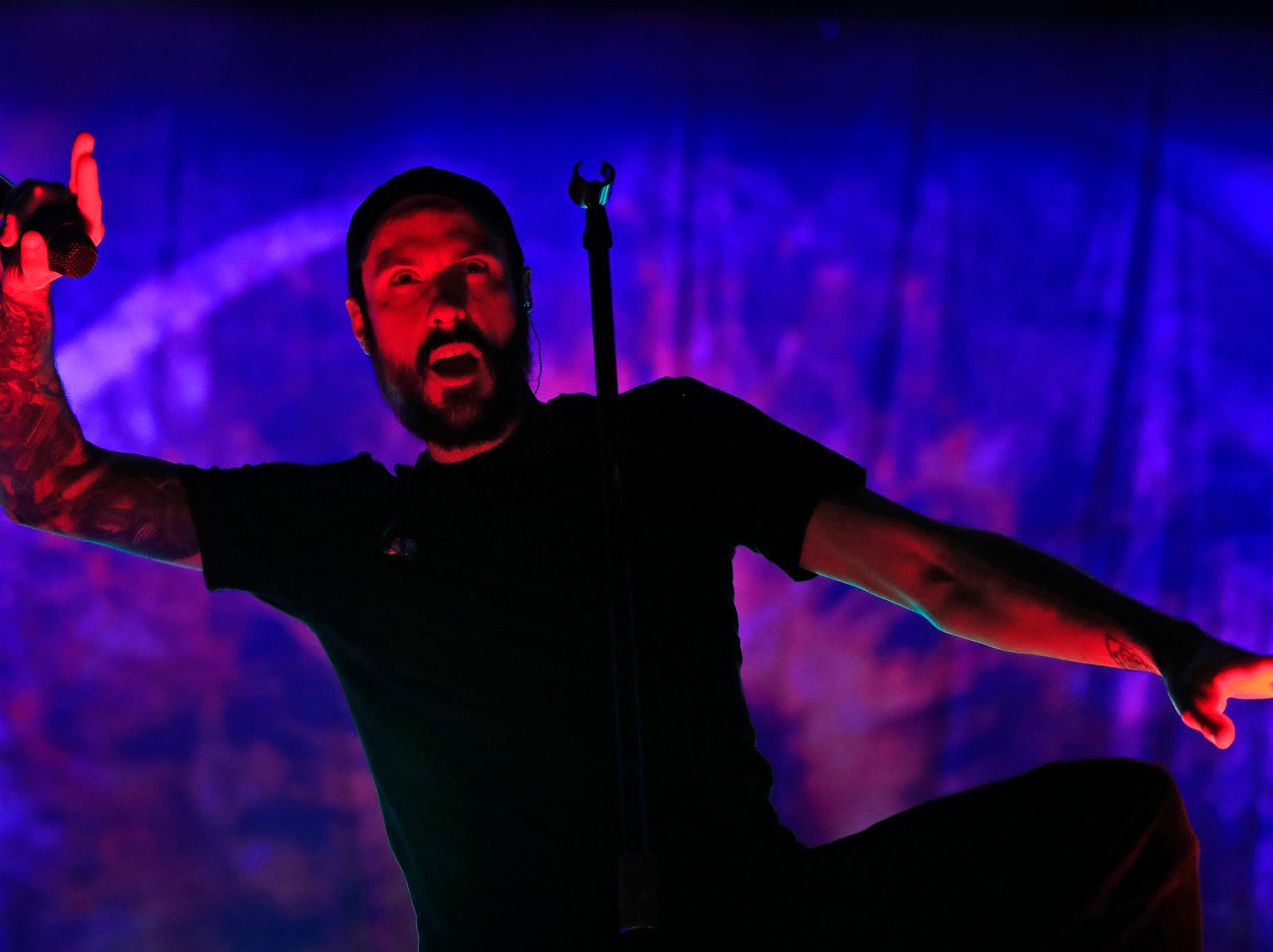 Breaking Benjamin perform at the Resch Center on Saturday, November 24, 2018 in Ashwaubenon, Wis.