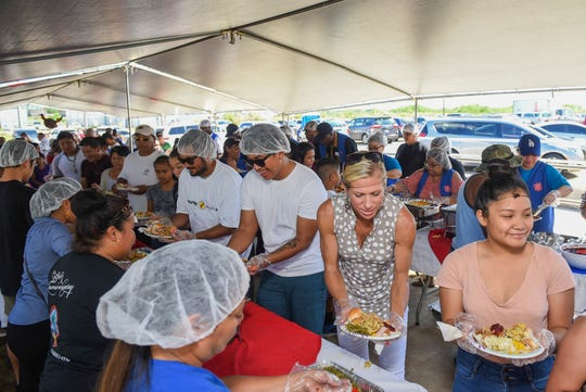 The Salvation Army hosts its 22nd annual Thanksgiving Feast at their Tiyan headquarters on Nov. 25, 2018.