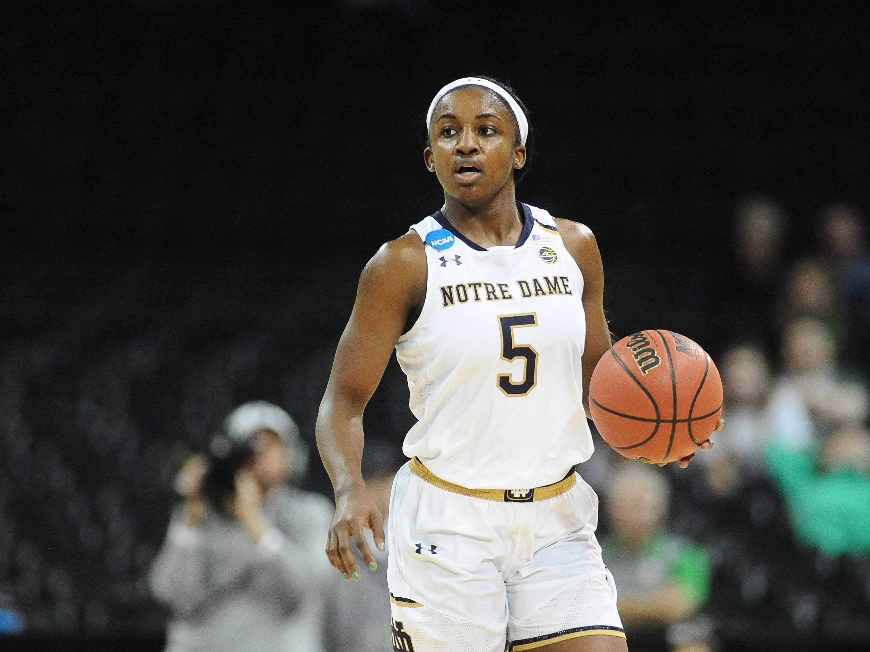 FILE – Jackie Young led the Irish in scoring against No. 9 Oregon State on Saturday.