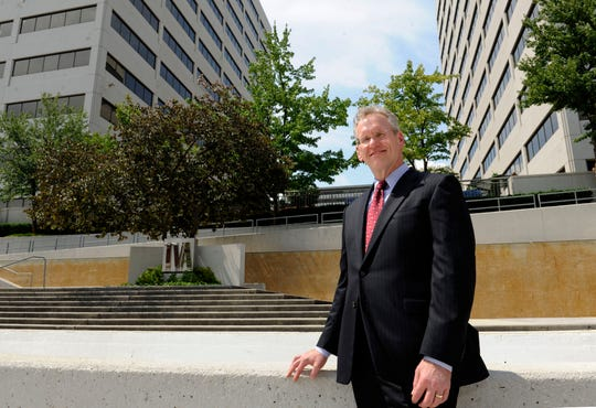 Former Tennessee Valley Authority CEO Bill Johnson, at the TVA Towers in downtown Knoxville on Tuesday, July 23, 2013.