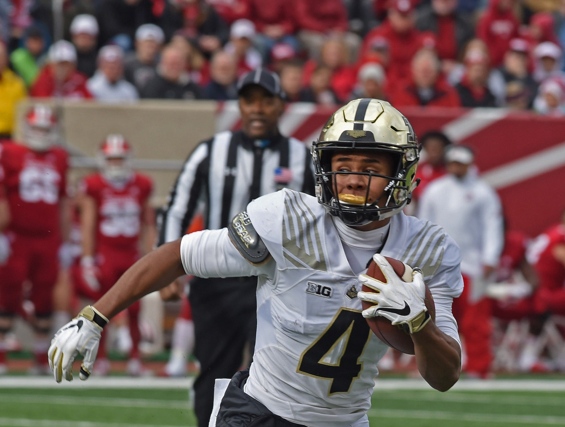The Boilermaker faithful enjoyed a beautiful day in IU's Memorial Stadium as Purdue retains the Bucket for 2018. Rondale Moore.