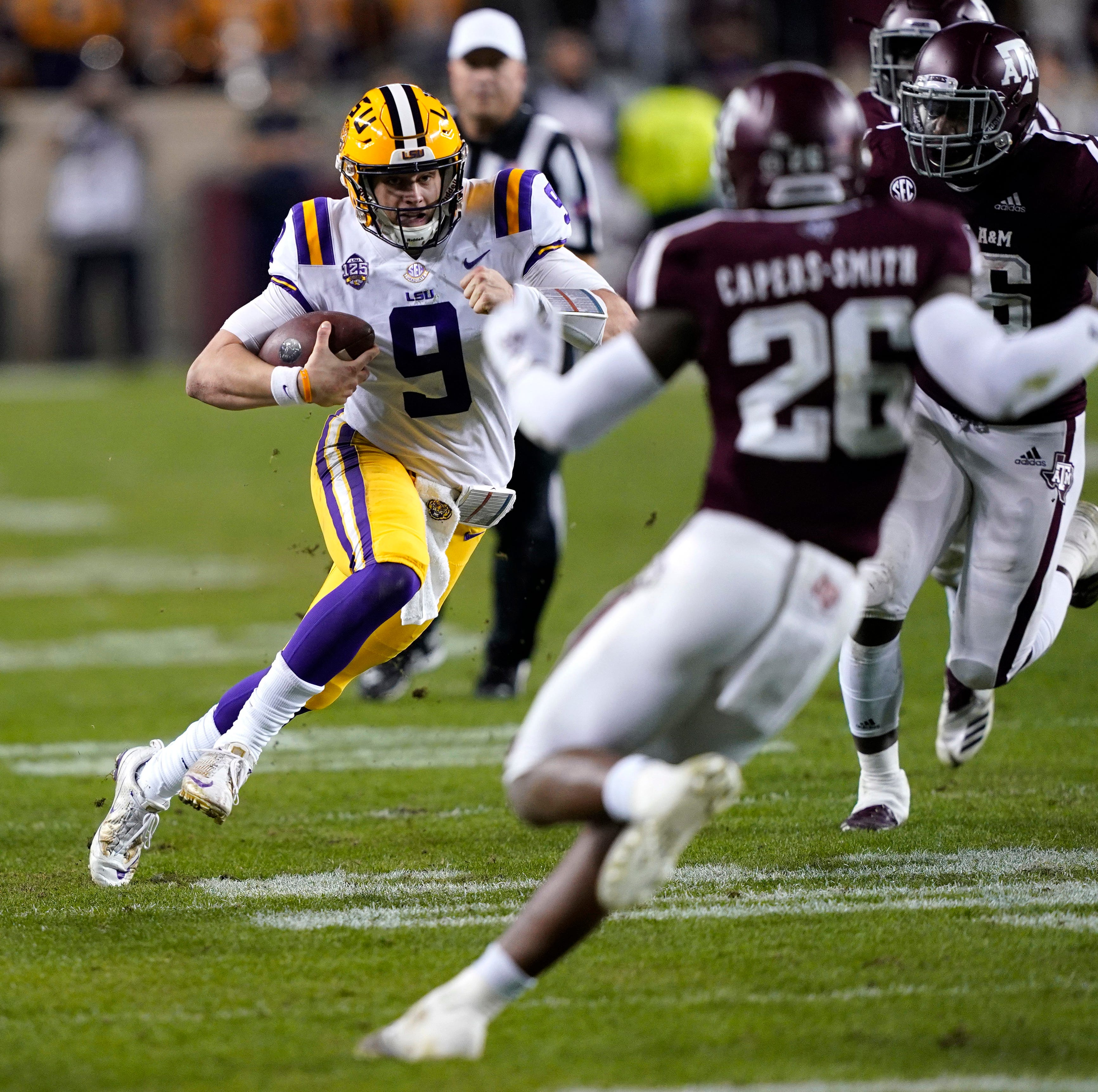 Run Joe Run! Burrow 'cut loose' at Texas A&M, and he'll keep running in bowl and in 2019