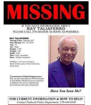 Ray Taliaferro, 79, was last seen in Kentucky.