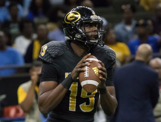 Grambling's Geremy Hickbottom (19) looks for an open receiver during the 45th annual Bayou Classic against Southern University held at the Super Dome in New Orleans, La. on Nov. 24.