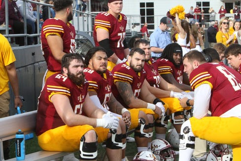 The combination of right tackle Eastwood Thomas, right guard T.J. Fiailoa, center Bobby Reynolds, left guard Devin Jackson and left tackle Trace Ellison started all 12 games on the offensive line last season.