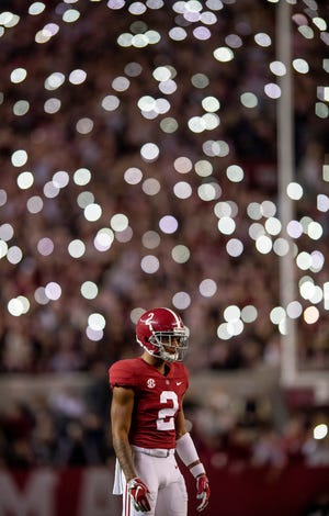 Alabama defensive back Patrick Surtain, II, (2) in second half action against Auburn during the Iron Bowl at Bryant-Denny Stadium in Tuscaloosa, Ala., on Saturday November 24, 2018.