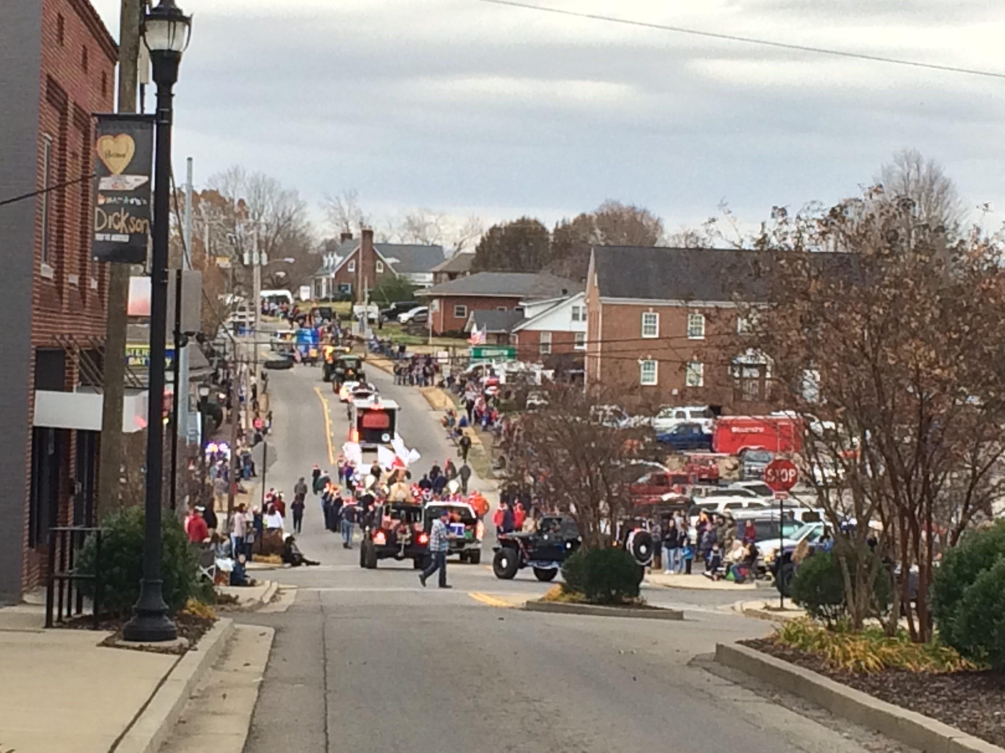 Dickson Christmas Parade on Sunday in Downtown Dickson.
