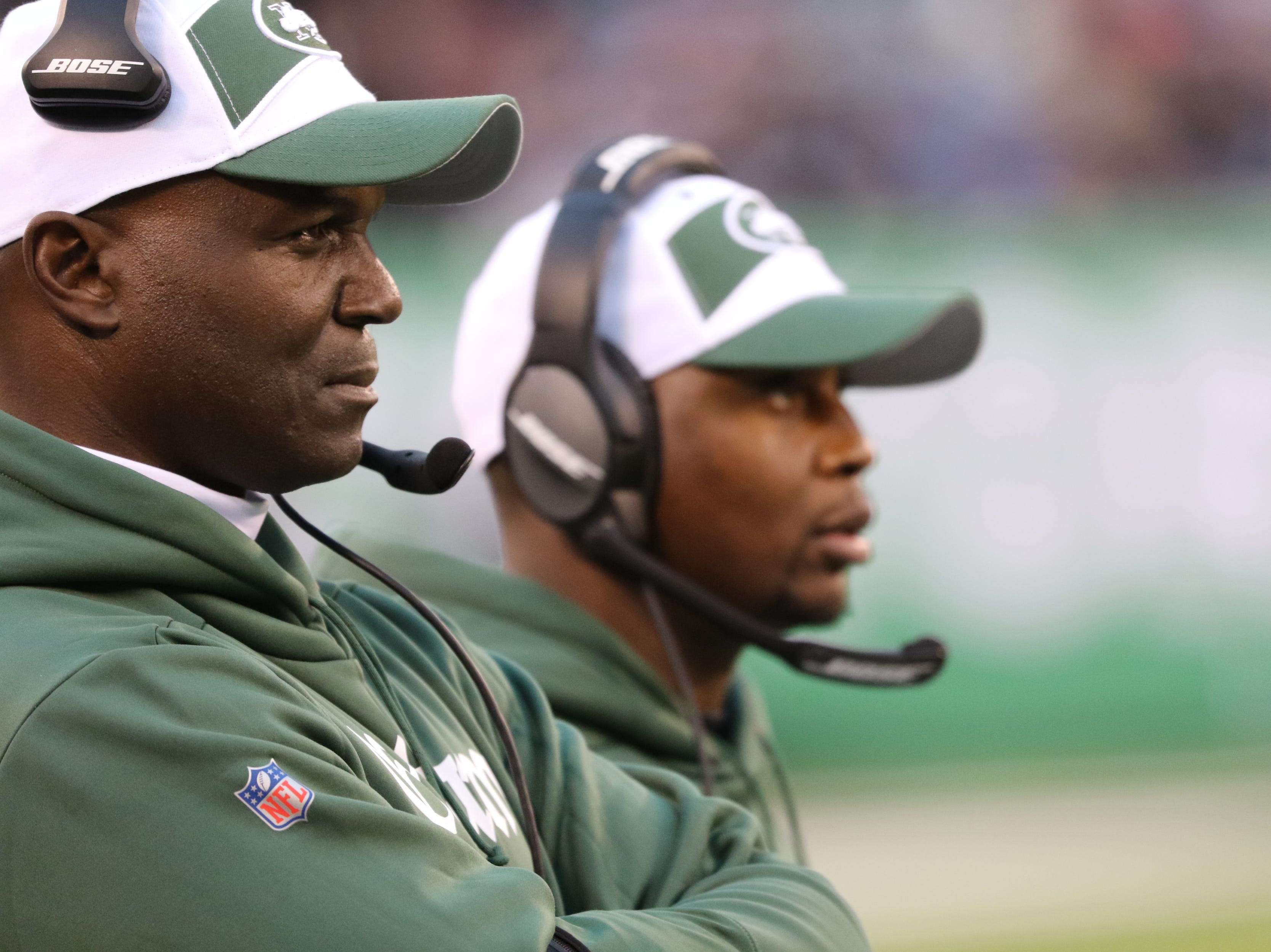 Jets Head Coach, Todd Bowles can be seen during the second half. Sunday, November 25, 2018