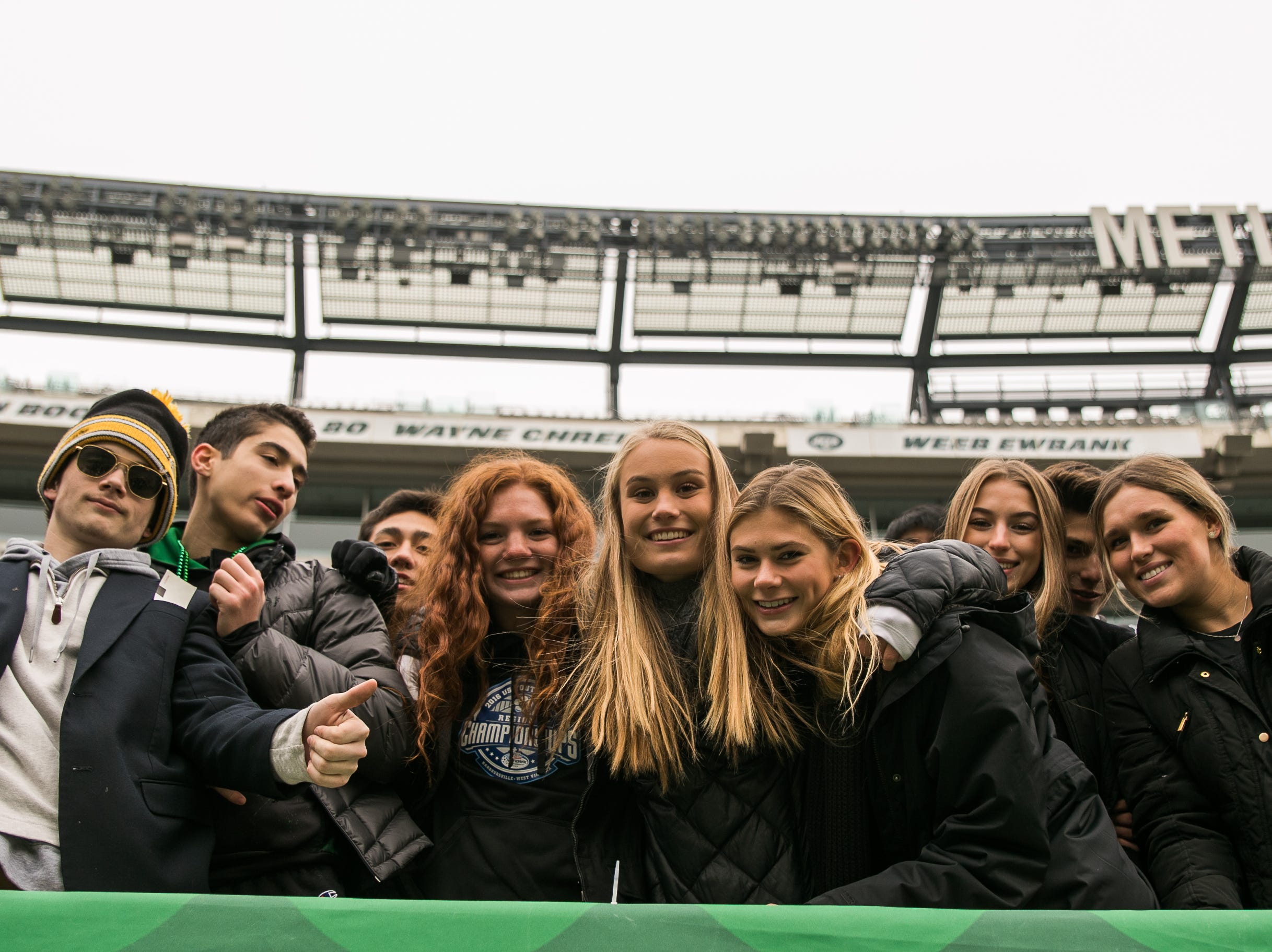 The crowd at the Summit High School versus Ramapo Group 3 Bowl Game at MetLife Stadium. The Raiders beat Summit 42-22 to remain undefeated 13-0. 11/24/2018