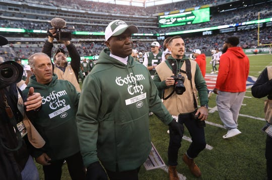 Jets Head Coach, Todd Bowles, looks for Patriots Head Coach, Bill Belichick after the Jets 27-13 loss. November 25, 2018