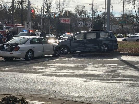 Two car crash in Paterson leaves seven children hurt